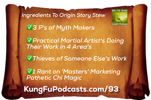 What are the Main Elements to a Chinese Martial Art Origin Story